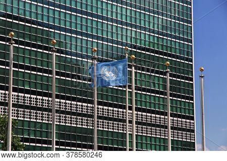 New York / United States - 02 Jul 2017:un Building In New York, United States