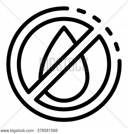 No Water Digestion Icon. Outline No Water Digestion Vector Icon For Web Design Isolated On White Bac