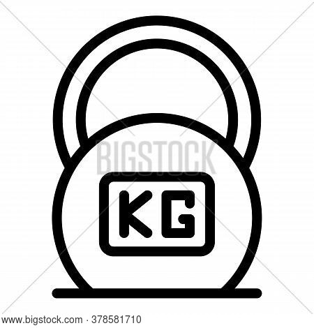 Kettlebell Digestion Icon. Outline Kettlebell Digestion Vector Icon For Web Design Isolated On White