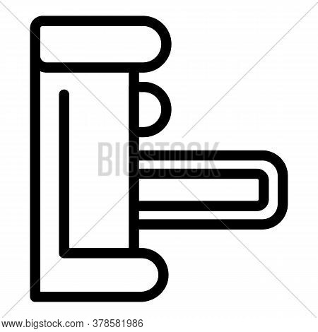 Turnstile Barrier Icon. Outline Turnstile Barrier Vector Icon For Web Design Isolated On White Backg