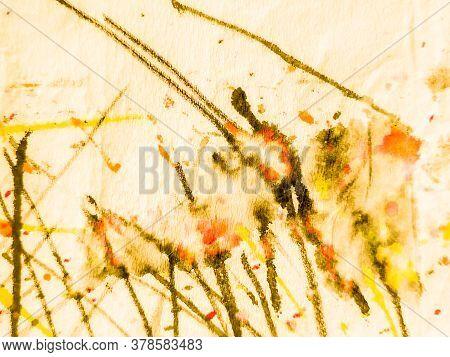 Watercolor Batik Repeat. Vintage Splash Dyed Pattern. Watercolor Batik Repeat Print. Tie Dye Metal S