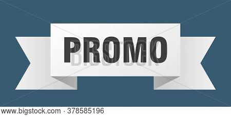 Promo Ribbon. Promo Isolated Band Sign. Banner
