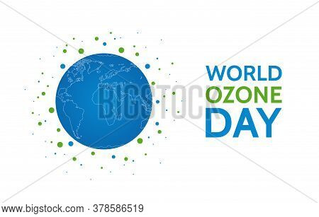 World Ozone Day Concept Design With Planet Earth. Vector Illustration