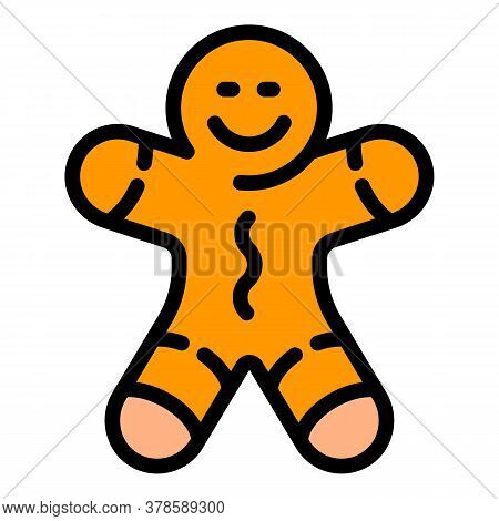 Christmas Gingerbread Tree Toy Icon. Outline Christmas Gingerbread Tree Toy Vector Icon For Web Desi