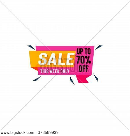 Sale Vector Badges For Labels, Percent Sale Label Symbols, Tags, Web Stickers, Discount Origami Sign