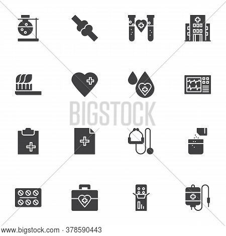 Medical Vector Icons Set, Modern Solid Symbol Collection, Filled Style Pictogram Pack. Signs, Logo I