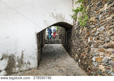 Krems An Der Donau, Austria - May 11, 2019: This Is A Narrow Medieval Passage To The Piarist Church