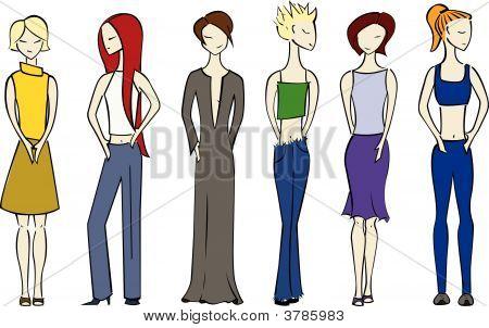 Six women.