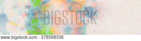 Tender Gradient. Gentle Watercolour Decoration. Rainbow Pastels Banner. Tender Blured Splash. Waterc