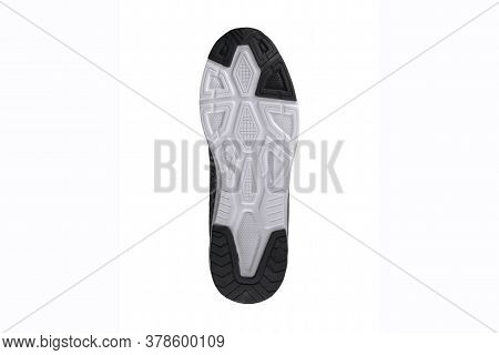 Bottom Of Sneakers. Black And White Sole Sneaker.