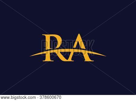 Initial Letter Ra Logo Design Vector Template. Ra Letter Logo Design