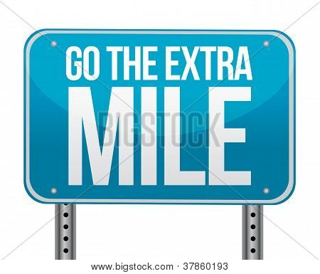 Go The Extra Mile Illustration Design