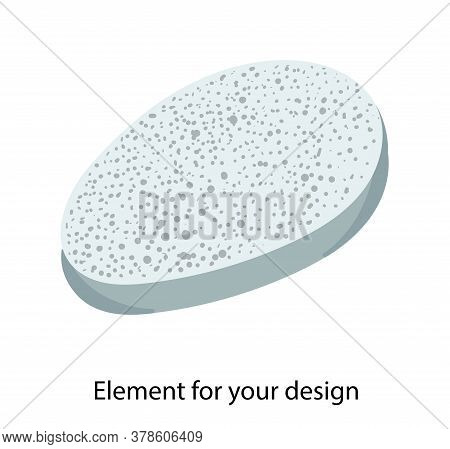 Stone For Washing. Natural Bath Accessories. Pumice For The Feet. Foot Cleaning. Pedicure. Illustrat
