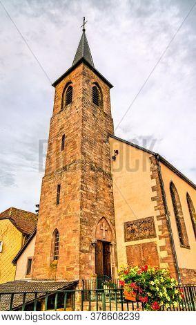 Assumption Church In La Petite-pierre Town - Alsace, Bas-rhin, France