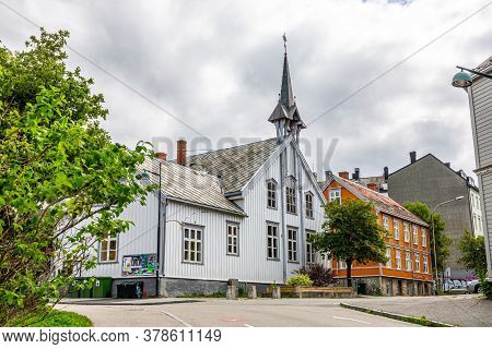 Impressions From The Old City Of The Norwegian City Of Trondheim In Summer