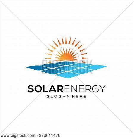 Sun Solar Energy Logo Design Template. Solar Tech Logo Designs