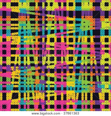 seamless pattern of colored threads