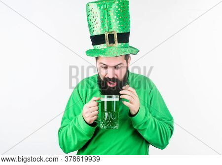 Irish Pub. Green Beer Mug. Drinking Beer Part Of Celebration. Discover Culture. Alcohol Consumption