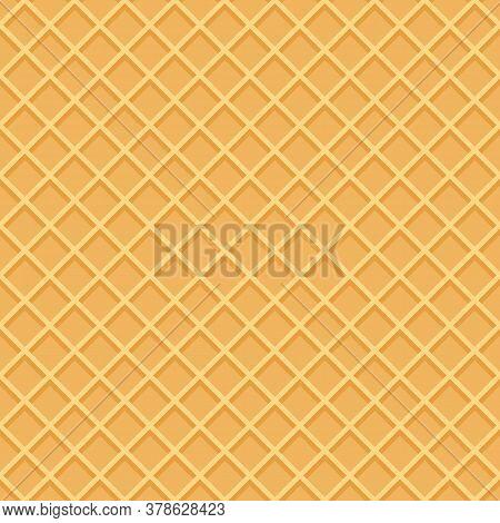 Seamless Wafer Background For Your Design. Vector Illustrator.