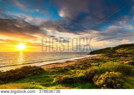 Hallett Cove Beach At Sunset, South Australia