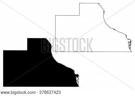 Jackson County, Iowa (u.s. County, United States Of America, Usa, U.s., Us) Map Vector Illustration,