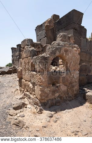 Afula, Israel, July 18, 2020 : The Ruins Of The Great Hospitaller Fortress - Belvoir - Jordan Star -