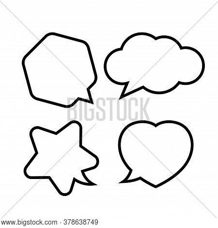 Star Shaped Speech Bubble, Heart Shaped Speech Bubble, Hexagon Speech Bubble, Cloud Speech Bubble Is
