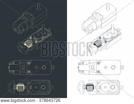 Geared Motor Dc Blueprints