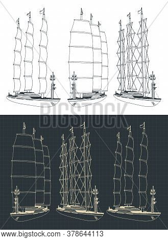 Large Modern Sailing Ship