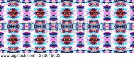 Tie Dye Abstract Texture. Watercolor Shoji Design. Batik Tie Dye Border. Watercolor Stencil Japan Ba