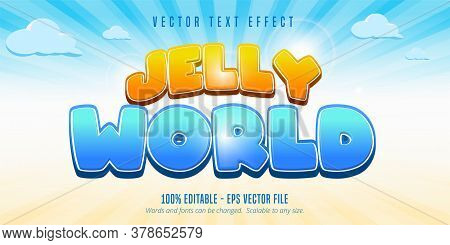 Jelly World Text, Game Style Editable Text Effect