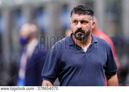 Milano (italy) 28th July 2020. Italian Serie A. Fc Internazionale Vs Ssc Napoli. Gennaro Gattuso, He