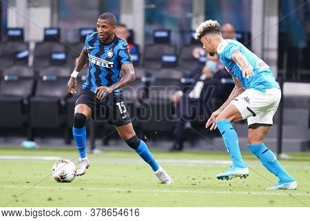 Milano (italy) 28th July 2020. Italian Serie A. Fc Internazionale Vs Ssc Napoli. Ashley Young Of Fc