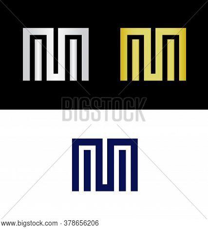 Geometric Letter M Logo, Letter M Logo, Letter M Icon, M Logo