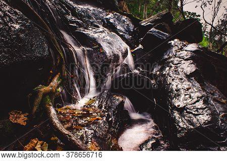 Kiliyur Water Falls In Yercaud, Tamilnadu, India. Long Exposure Water Fall Photography