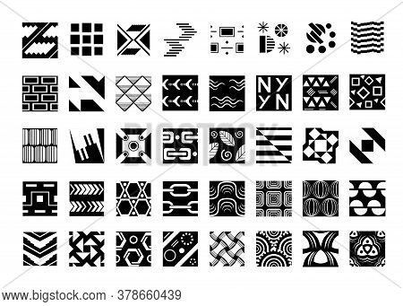 Set Of Black And White Swatches, Swatches Collection For Background, Wrapping , Cover Design, Textil