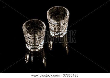 Shot Glasses On Black