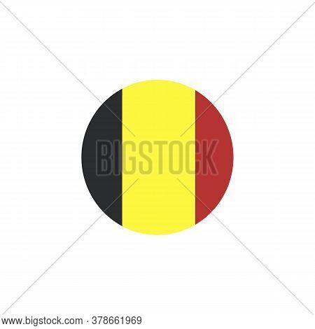 Flag Of Belgium Flat Vector Illustration Isolated. Belgium Symbol