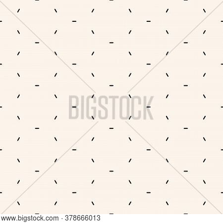 Vector Minimalist Seamless Pattern. Subtle Black And White Minimal Geometric Texture. Simple Abstrac