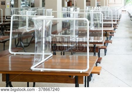 Preventing The Spread Of Covid-19 Coronavirus In Schools And Universities By Using Plastic Sheets Di