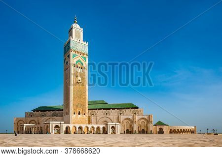 Hassan Ii Mosque In Casablanca. Morocco, North Africa