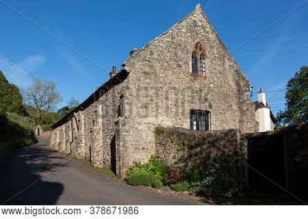 14th Century Tithe Barn In Selworthy. Somerset Uk