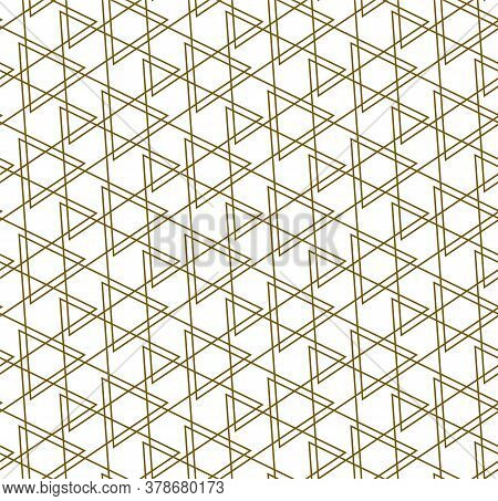 Repetitive Minimal Vector Triangular, Repeat Pattern. Seamless Classic Graphic Symmetrical Decor Tex