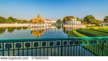 Royal Summer Palace Or Bang Pa-in On A Lake Near Bangkok, Ayutthaya Province, Thailand