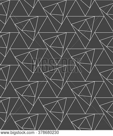 Seamless Decorative Graphic Luxury, Swatch Pattern. Repeat Wave Vector Triangle Lattice Texture. Rep