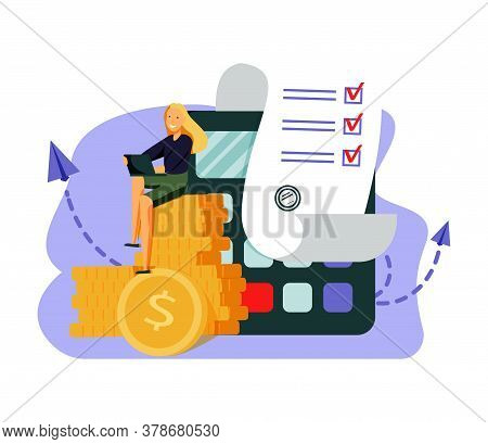 Monthly Expense Planning. Reminder For Appointment. Payment Deadline, Worker With Timetable, Organiz