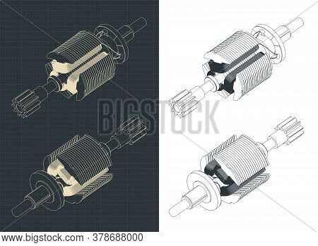 Dc Motor Rotor Isometric Drawings