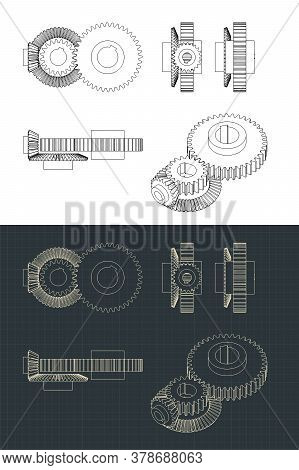 Gears Drawings Illustrations