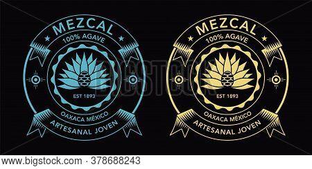 Mexican Mezcal Beverage Spirit Label, Oaxaca Flavor