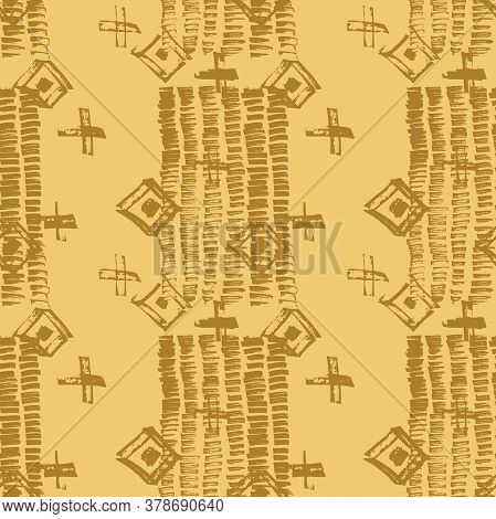 Tie Dye Japanese Geometric Summer Seamless Pattern. Geo Wabi Sabi Traditional Kimono Print. Boho Tie